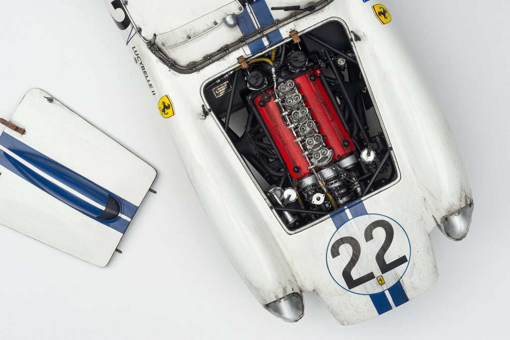 Special Edition of Race-Weathered Ferrari 250TRs released by Amalgam