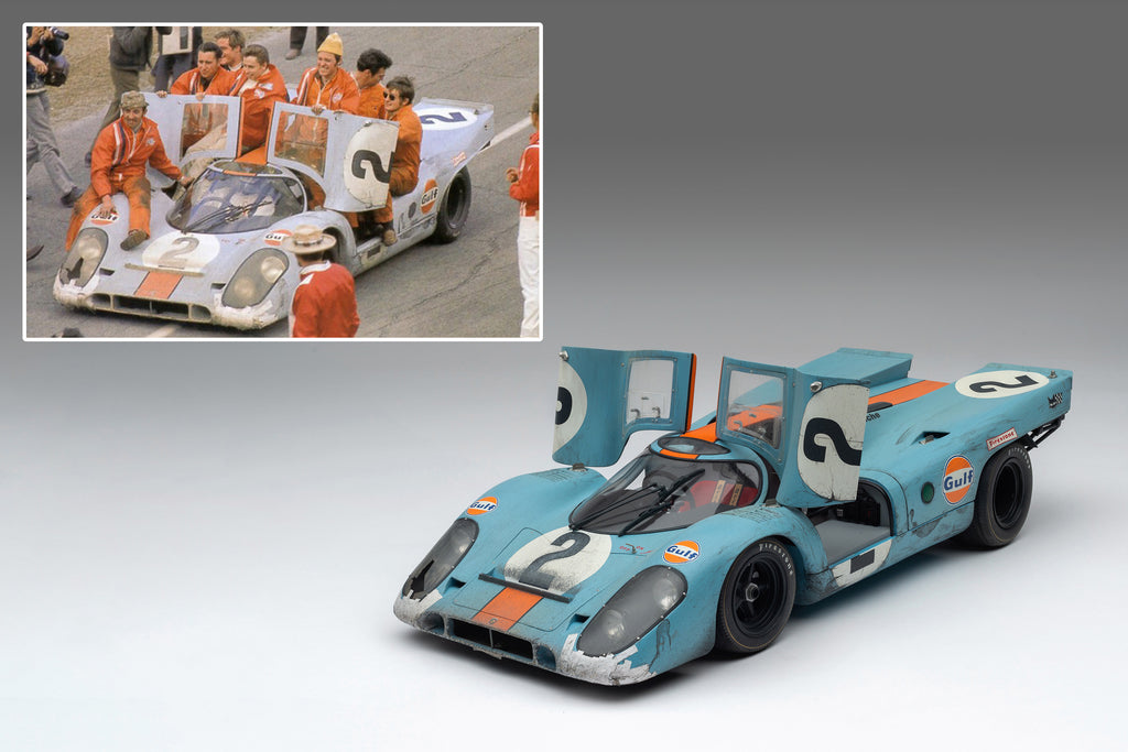 First Photos of Amalgam Race-Weathered Porsche 917K are Released