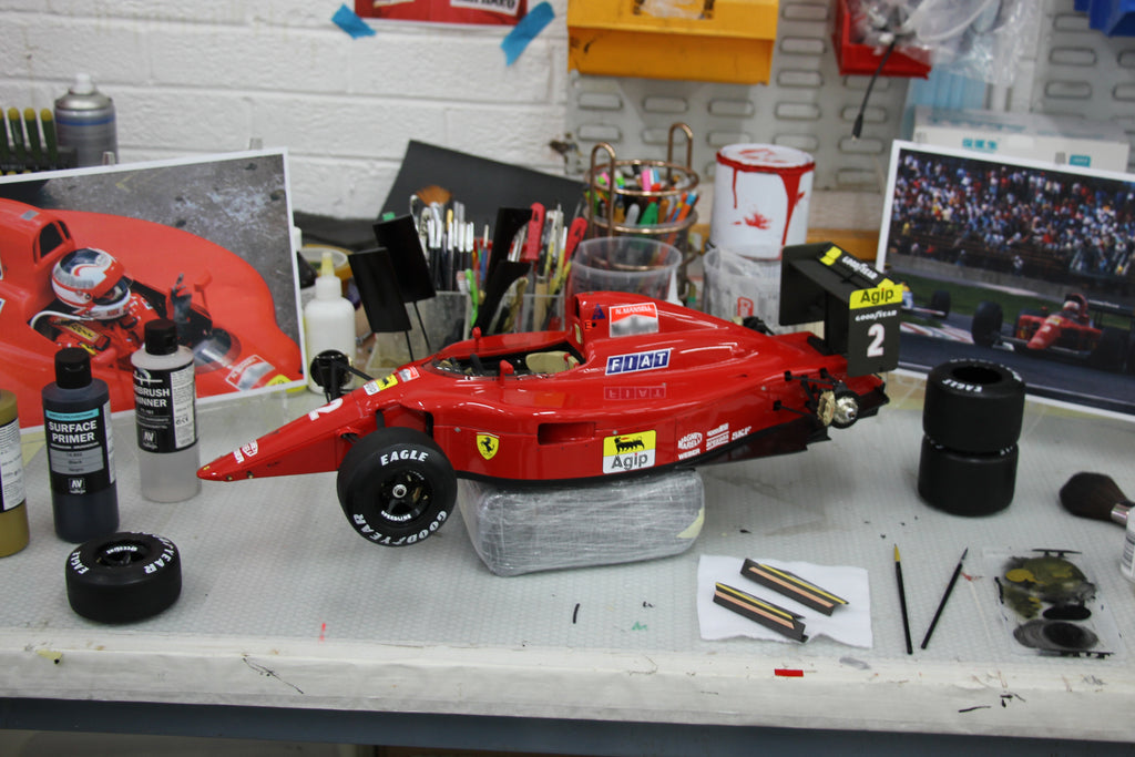A First Look at Amalgam's Race Weathered Ferrari F1-90