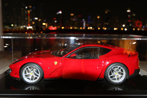 Amalgam Collection Ferrari 812 Superfast at 1:8 scale on display at the One&Only hotel in Dubai