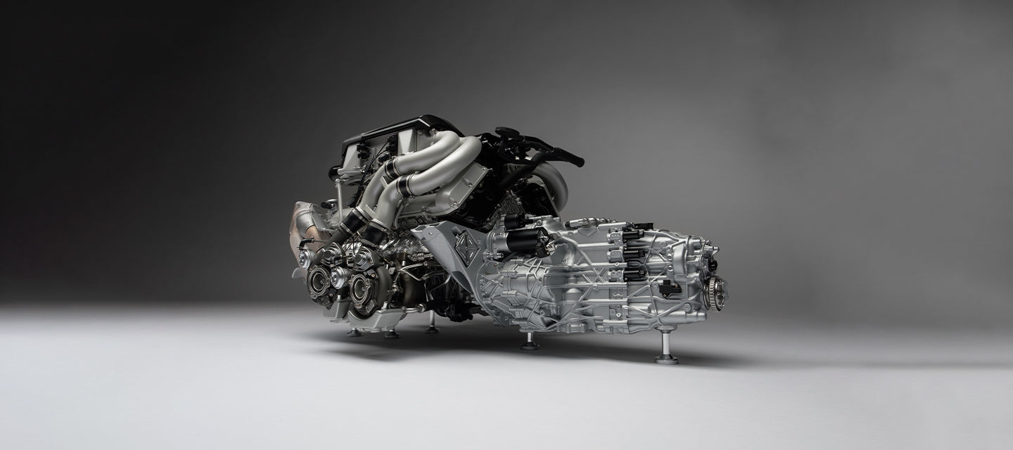 Bugatti Chiron Engine and Gearbox Replica by Amalgam Collection at 1:4 scale