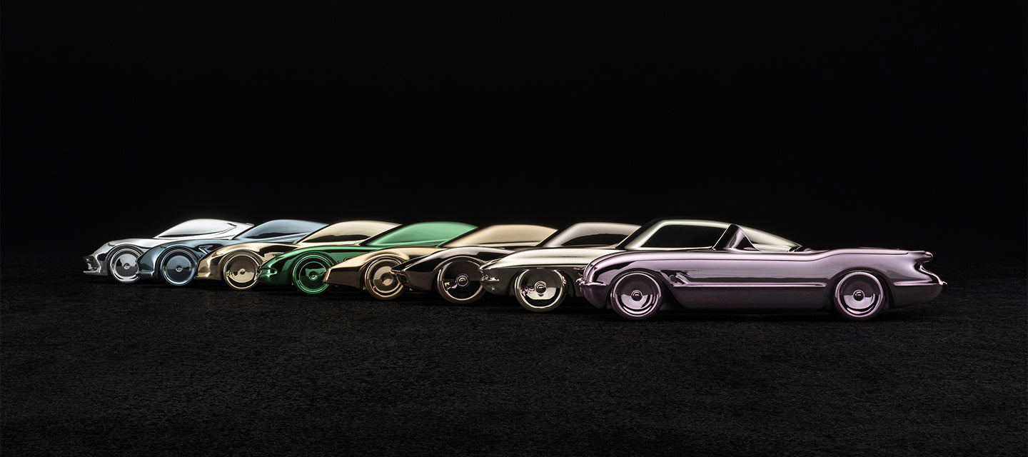 Amalgam Collection Chevrolet Corvette Sculptures at 1:43 scale