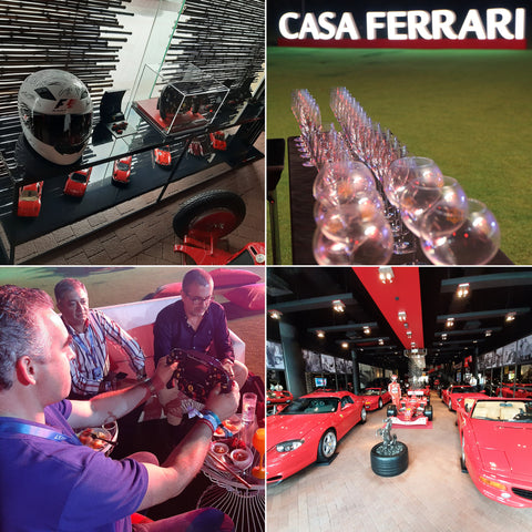 Layout of images from Casa Ferrari, Yas Marina, Abu Dhabi, December 2019