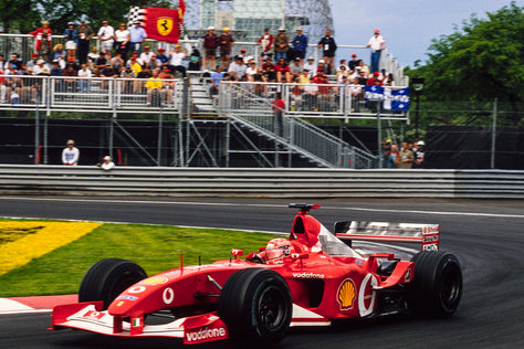Ferrari F2002 - 2002 Canadian GP Winner - Schumacher - Race Weathered