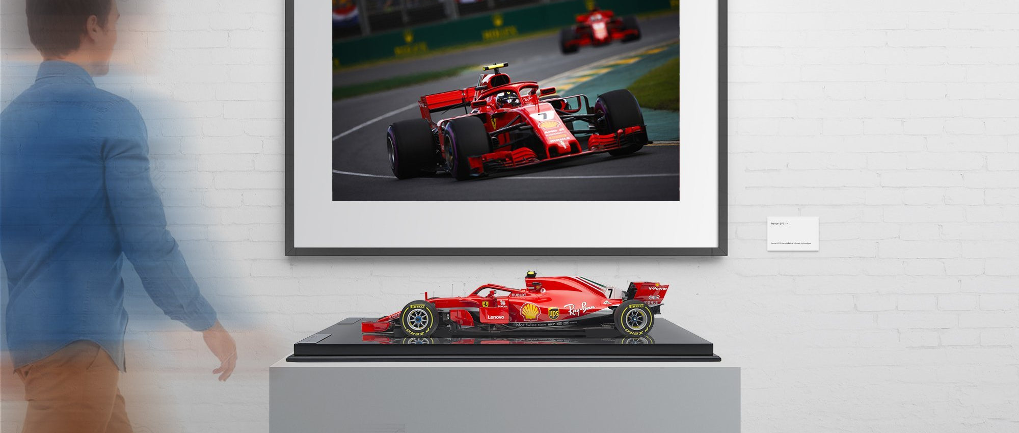 Ferrari SF71-H & Limited Edition Art Print - Räikkönen