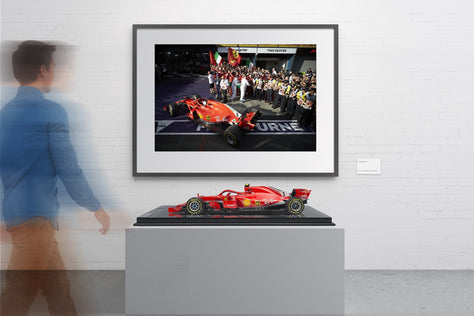 Ferrari SF71-H & Limited Edition Art Print - Vettel