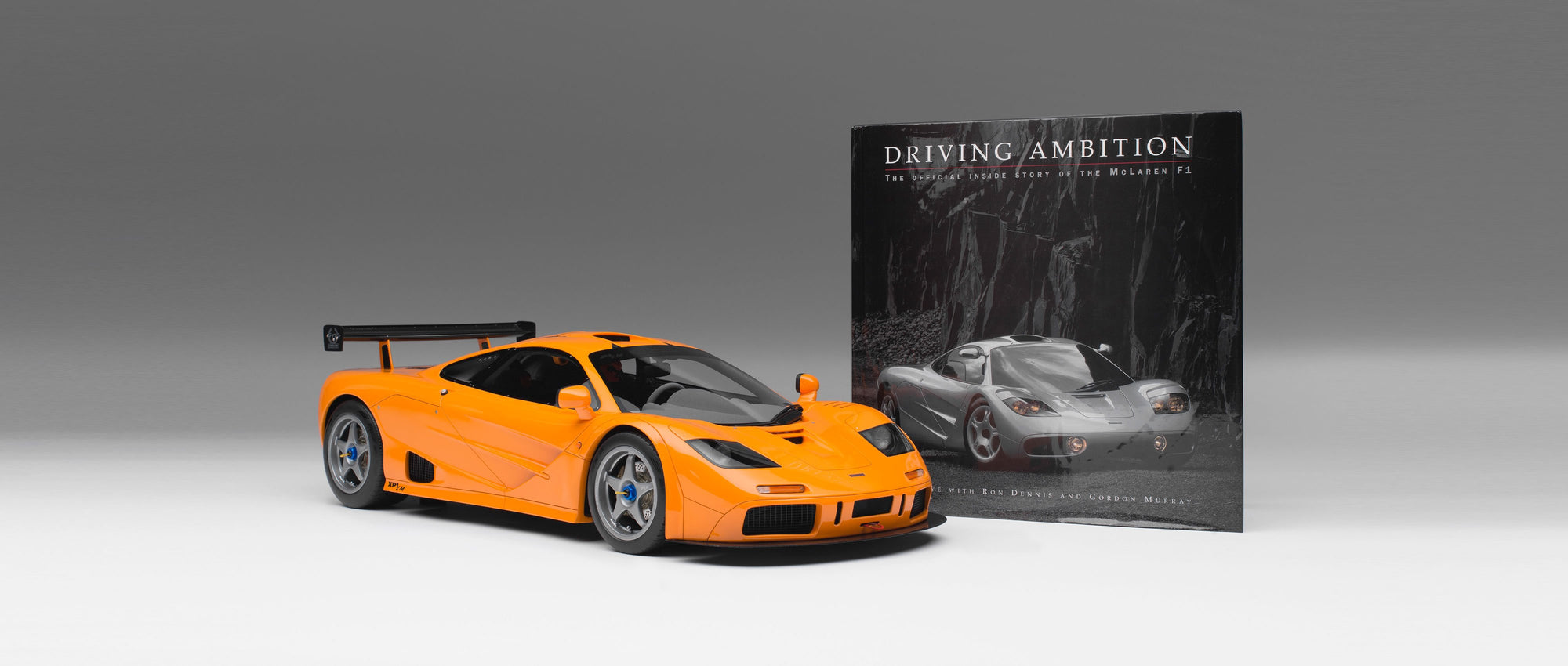 "McLaren F1 LM (1995) + Gordon Murray signed Copy of ""Driving Ambition"""