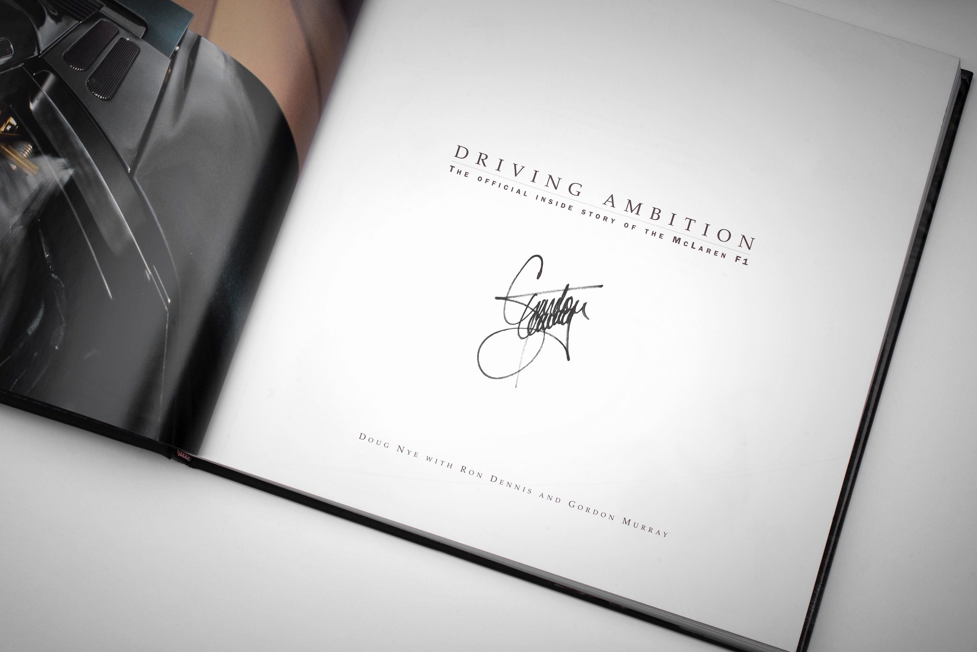 """McLaren F1 LM + Gordon Murray signed Copy of """"Driving Ambition"""