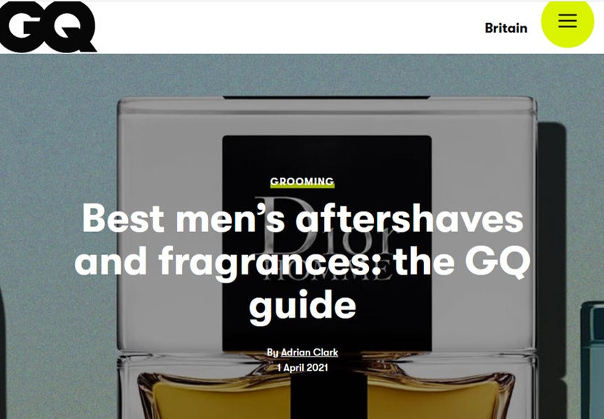 British GQ says we're one of the 'best men's aftershaves and fragrances'...for the fourth year running!