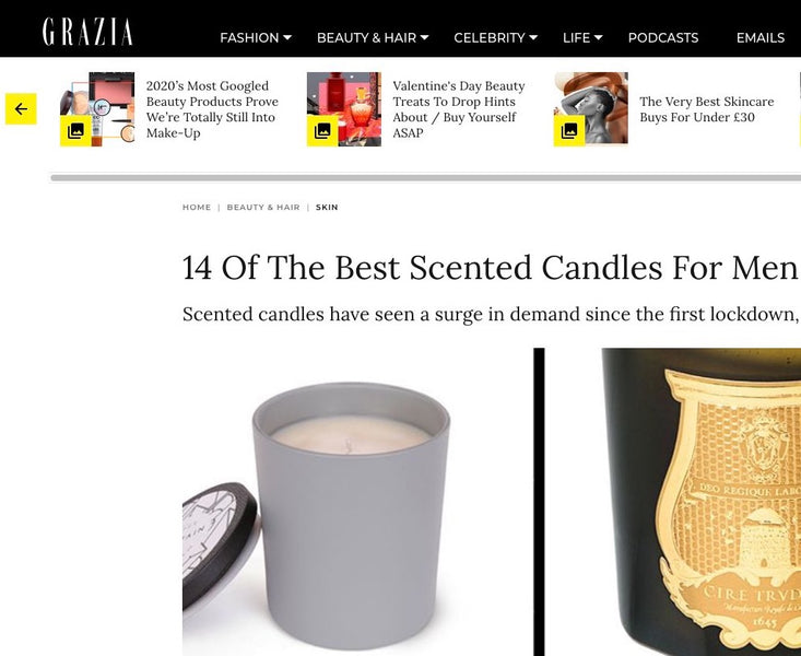 "Mountain Candle One ""Of The Best Scented Candles For Men"" (GRAZIA UK)"