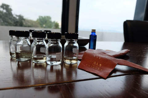 We brought samples of our leather goods to the development process in Grasse
