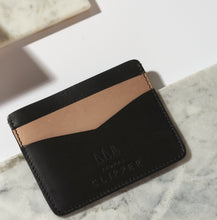 Load image into Gallery viewer, Minimalist Leather Card Holder - Contrast