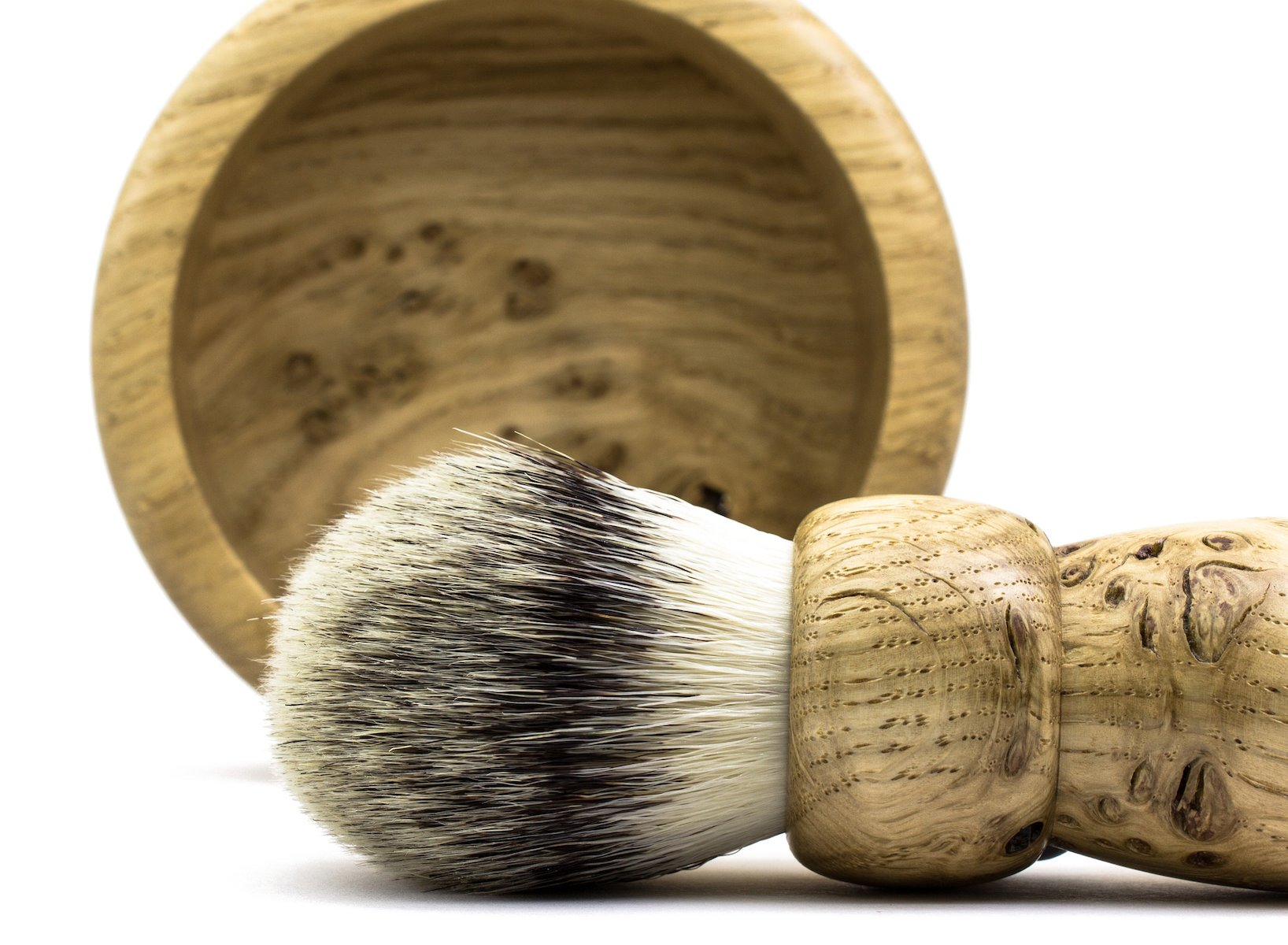 British oak, hand made in Leicester. Vegan friendly bristles.