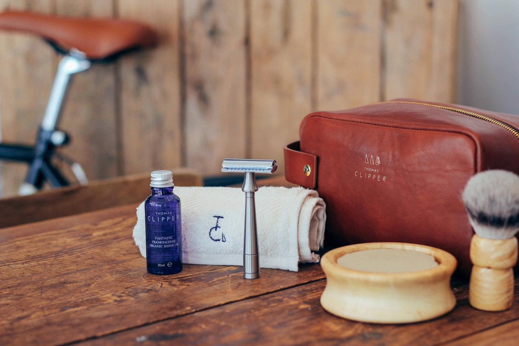 Everything you need for the perfect shave on the road: from lather to blade to wash bag.