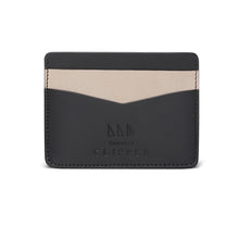 Load image into Gallery viewer, Minimalist Leather Card Holder - Contrast - Thomas Clipper