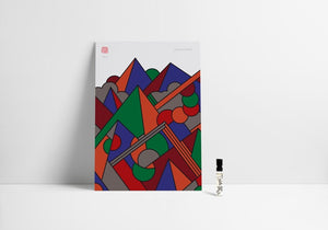 Limited Supermundane Art + 2ml Mountain Vial