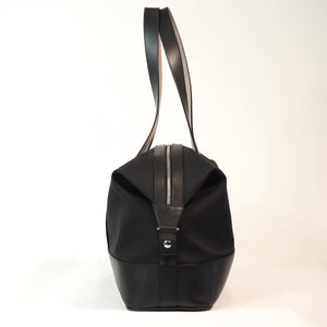 Leather Trim Overnight Bag