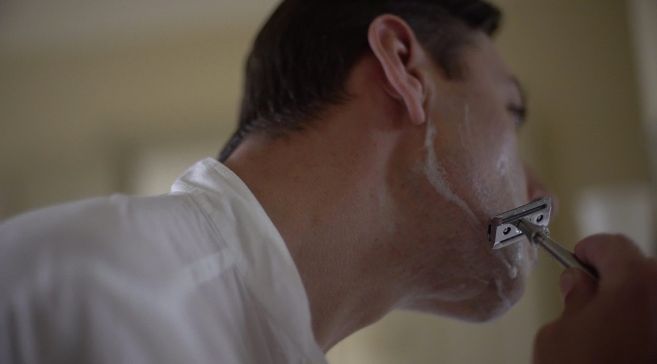 The perfect shave starts with a shower or a splash of hot water.