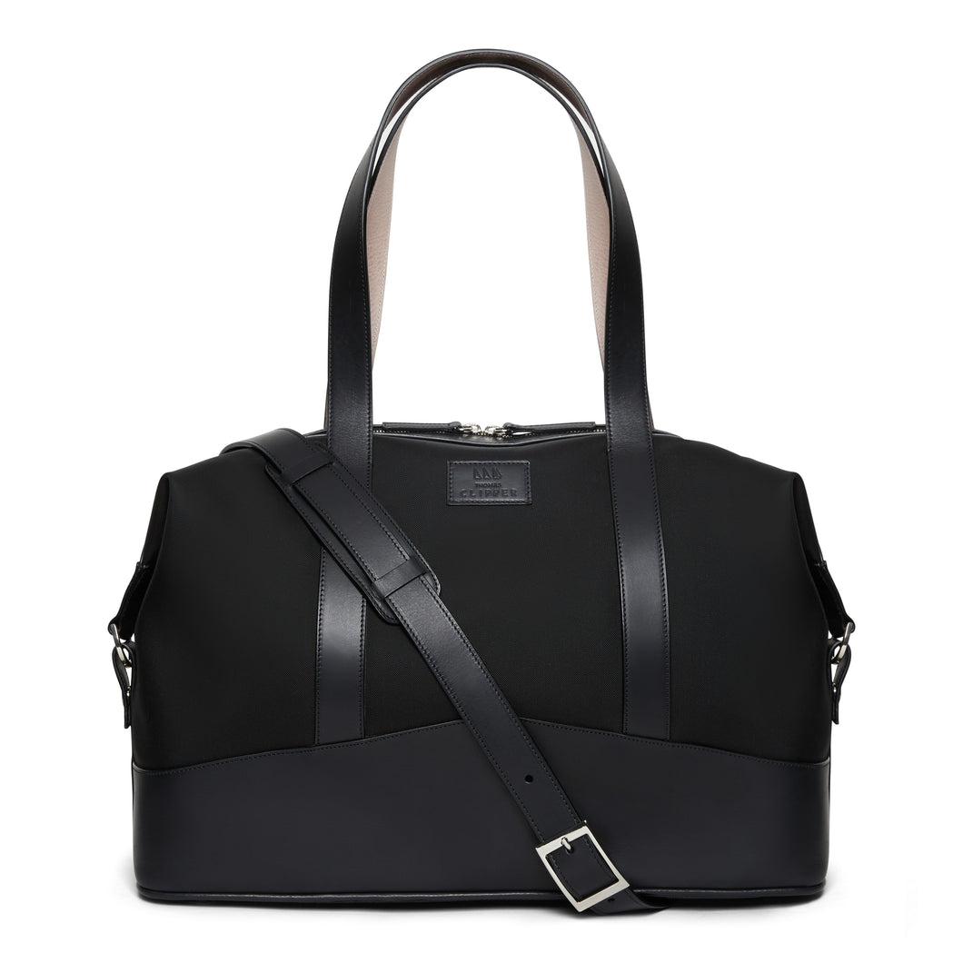 Leather Trim Overnight Bag - Thomas Clipper