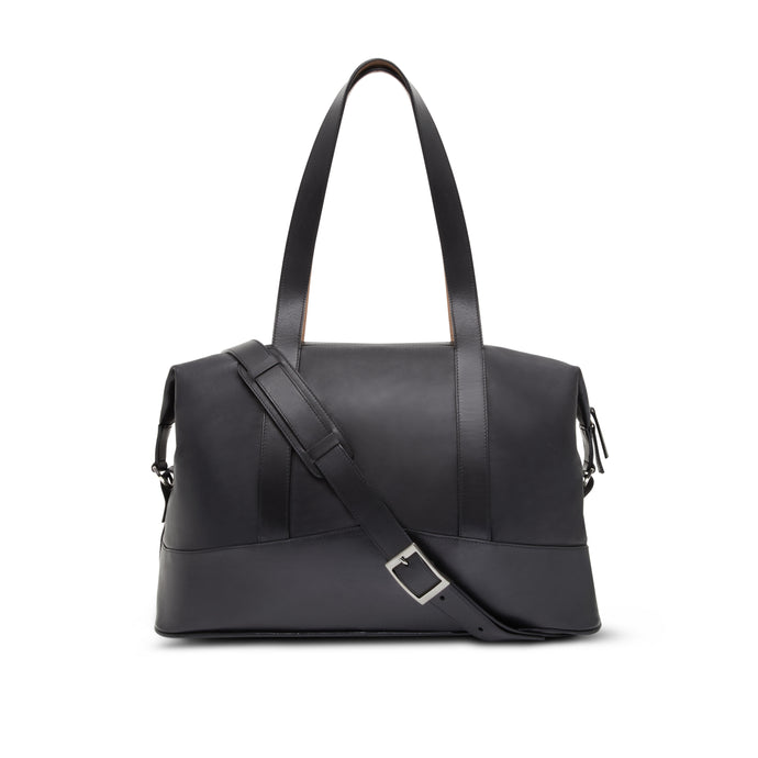 All Leather Overnight Bag - Thomas Clipper