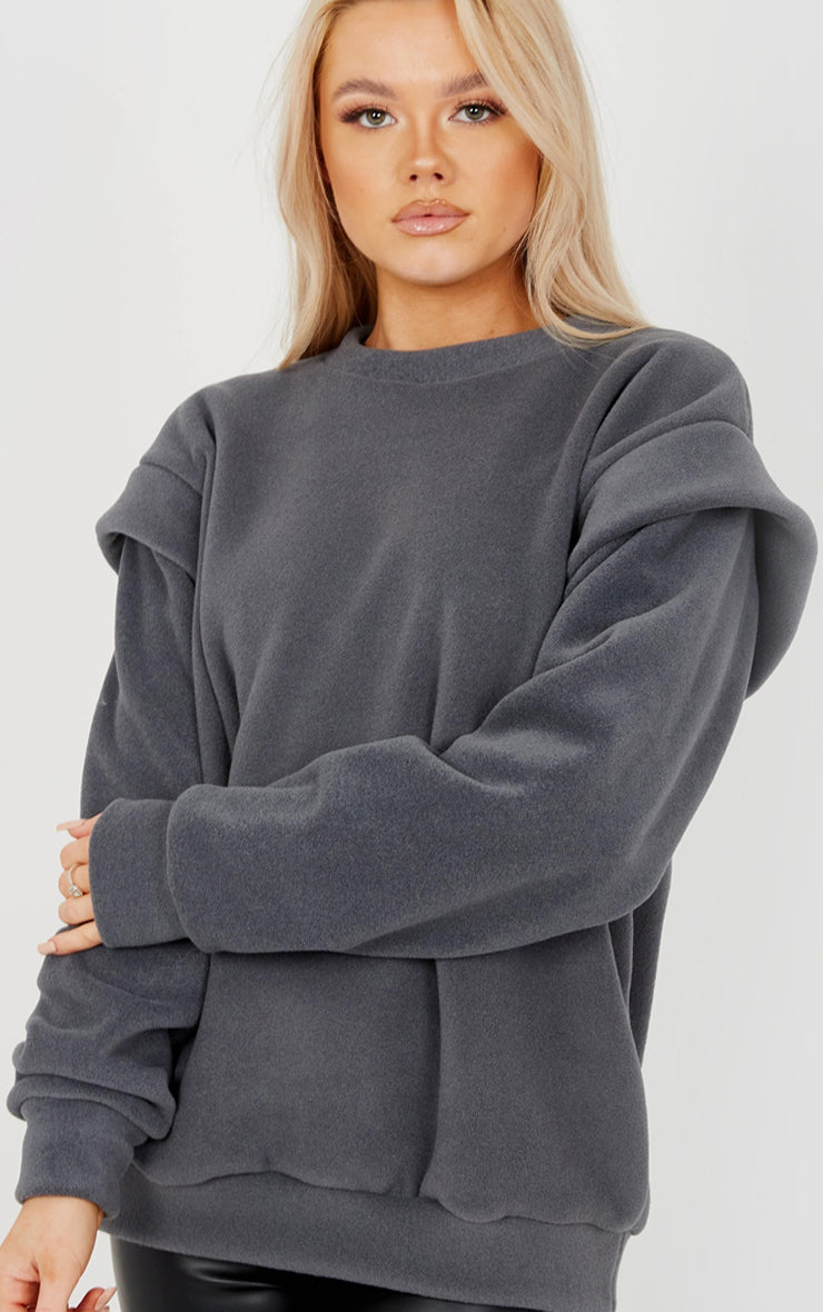 Charcoal Thick Fleece Sweatshirt