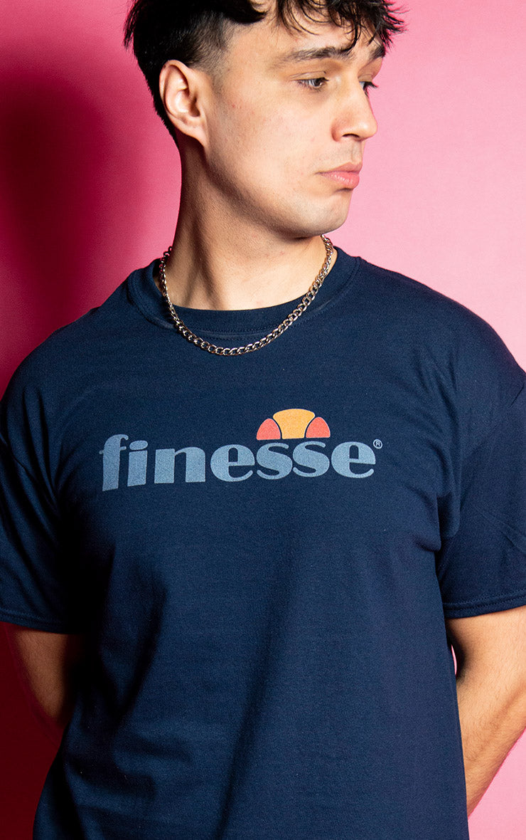 Finesse Mens Causal Navy T-Shirt