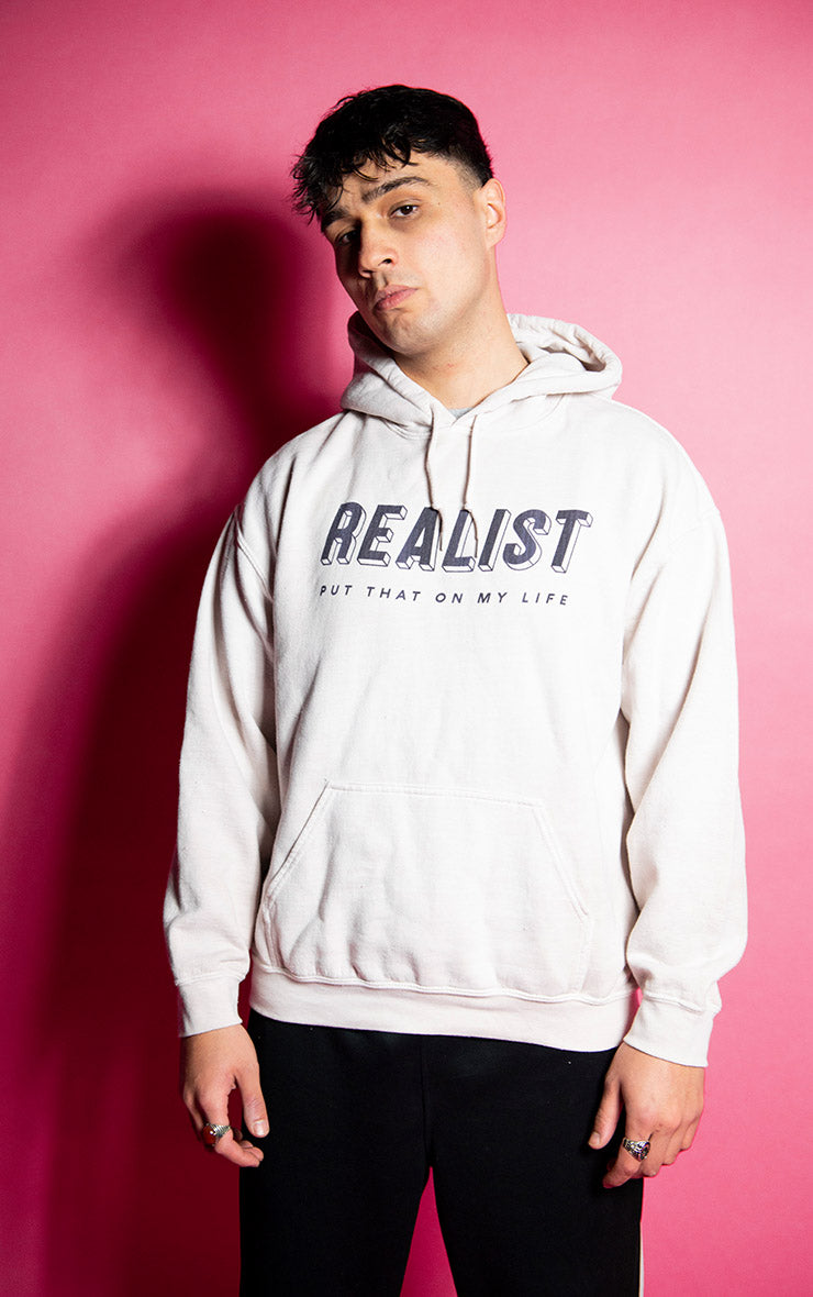 Realist Put That on My Life Mens Causal Sand Hoodie