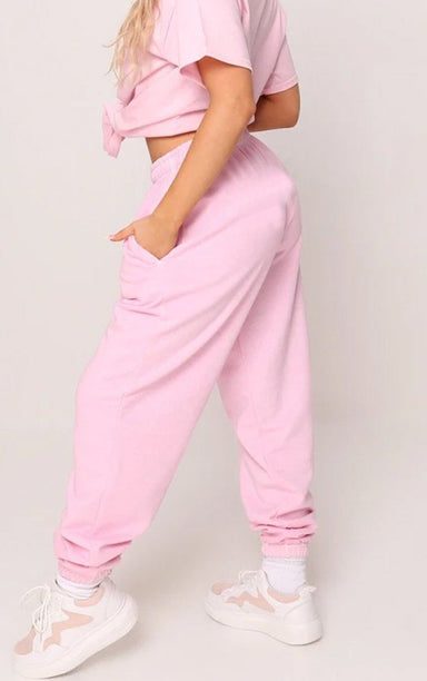 Baby Pink Cuffed Joggers trousers Splashy