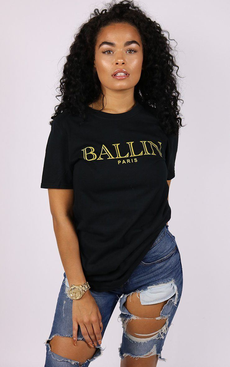 Ballin Paris Graphic Black T-Shirt T-Shirt Splashy