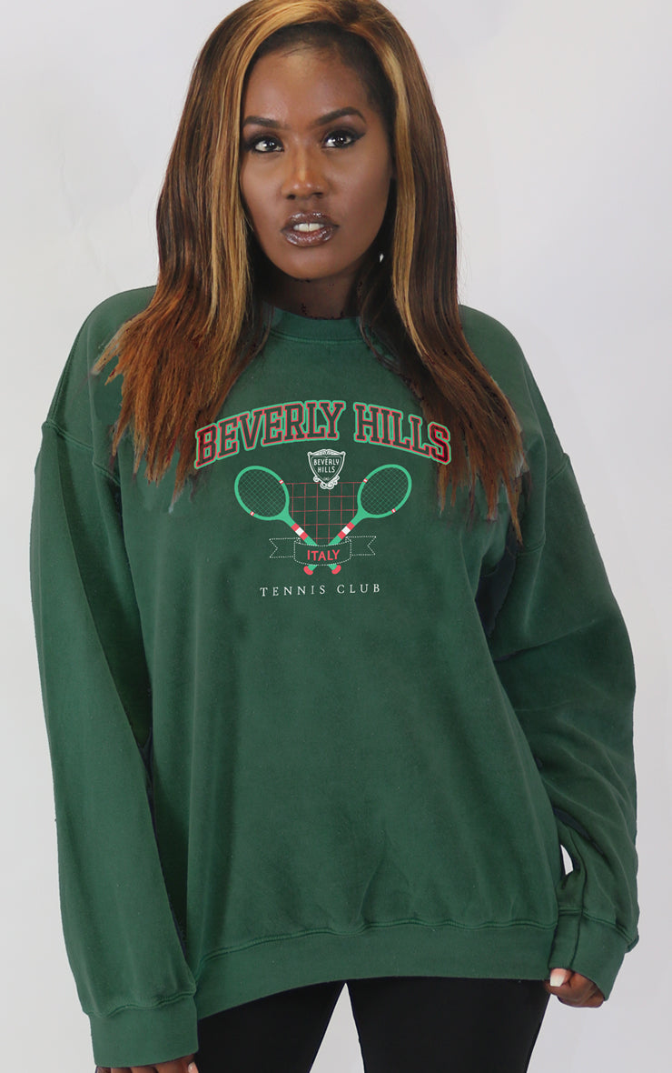 Beverly Hills Tennis Club Royal Green Sweatshirt