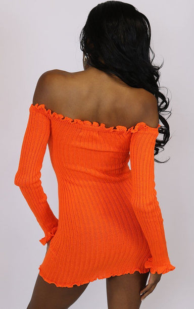 Boomerang Orange Bodycon Dress dresses Splashy