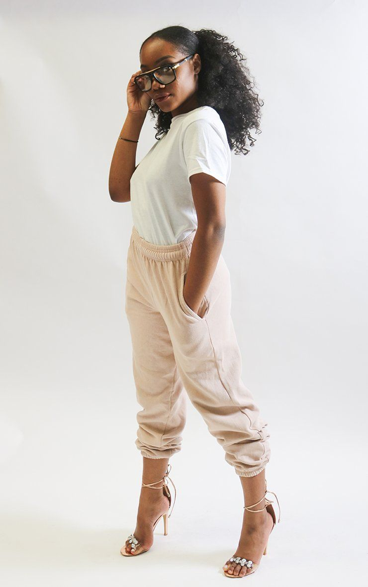 Cappuccino Cuffed Joggers trousers Splashy