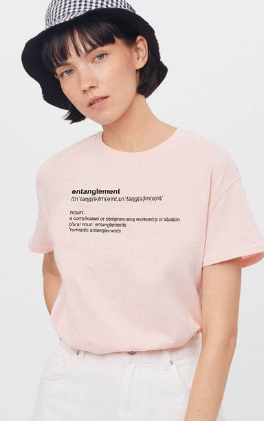 Definition of Entanglement Baby Pink T-Shirt T-Shirt Splashy