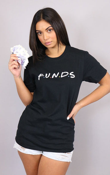 F.U.N.D.S Cash Flow Friends funds Black T-Shirt T-Shirt Splashy