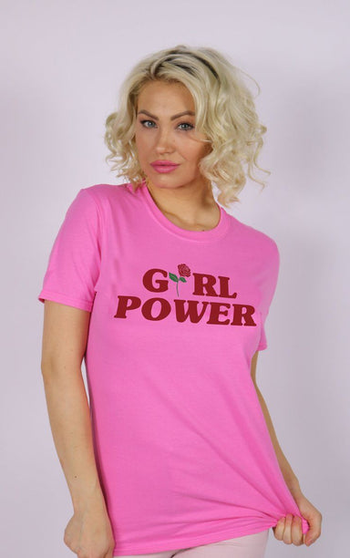 Girl Power Graphic Rose Pink T-Shirt T-Shirt Splashy