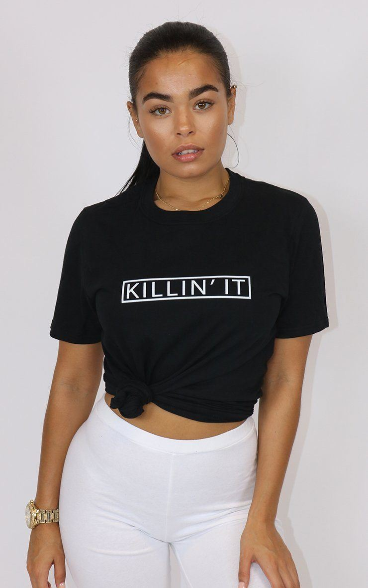 Killin It Graphic Black T-Shirt T-Shirt Splashy