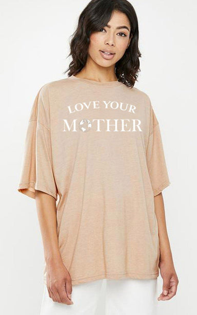 Love Your Mother Earth Day Natural T-Shirt T-Shirt Splashy