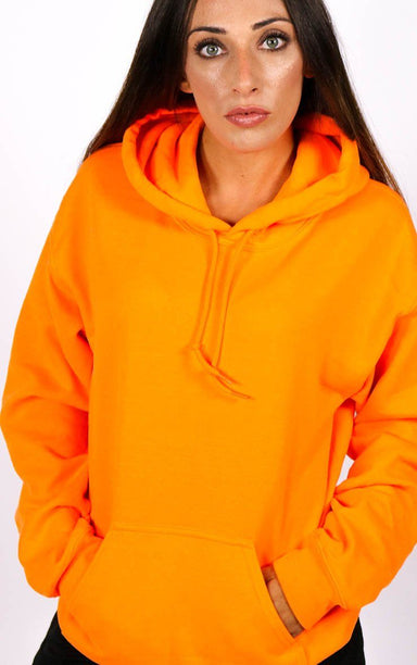 Neon Orange Festival Hoodie T-Shirt Splashy