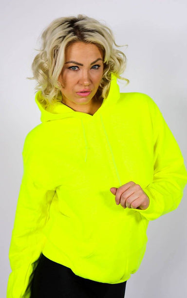 Neon Yellow Festival Hoodie T-Shirt Splashy