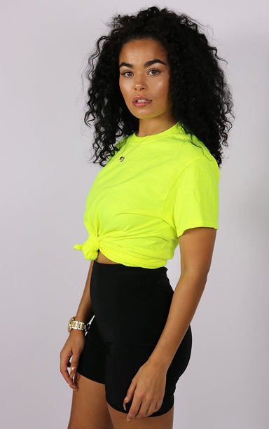 Neon Yellow T-Shirt T-Shirt Splashy