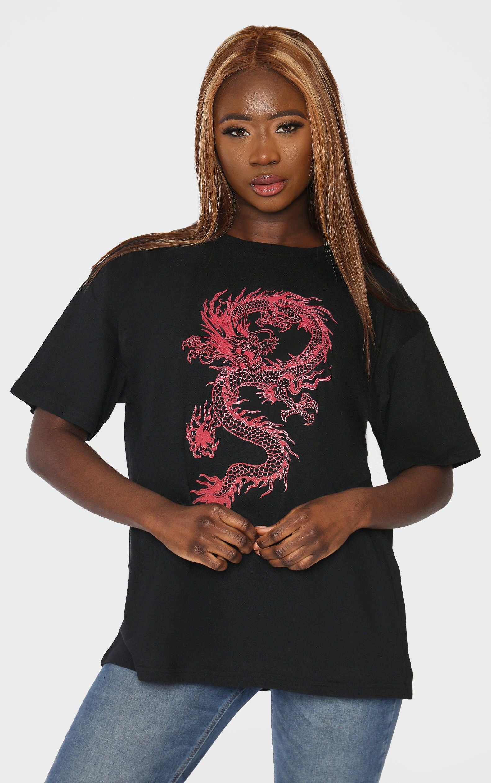 Tame The Dragon 🐉🔥 Black  T-Shirt