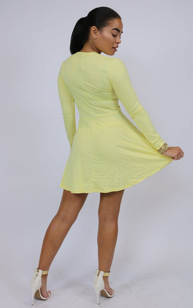 Summer Vibes Lemon Yellow Short Dress dresses Splashy