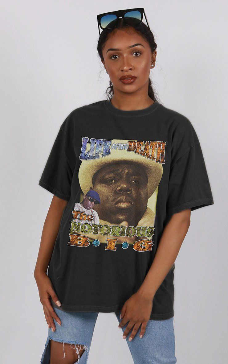 The Notorious B.I.G Life After Death Oversized Black T-Shirt T-Shirt Splashy
