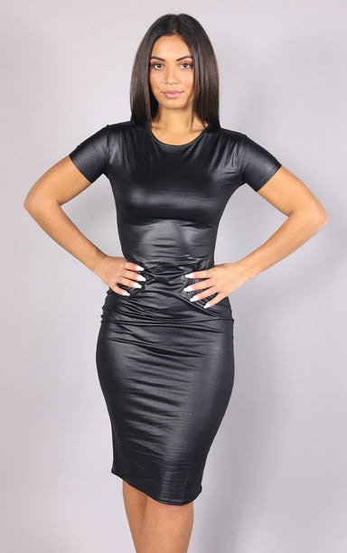 Wet Black Rubber Dress dresses Splashy