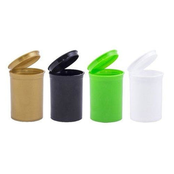 30 Dram opaque premium child resistant pop top bottles