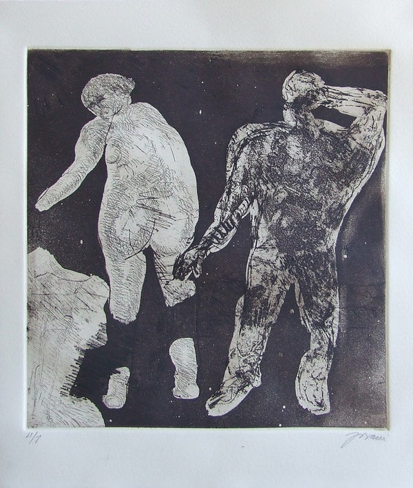 "Yovani BAUTA, ""Untitled 2"", Etching and aquatint"