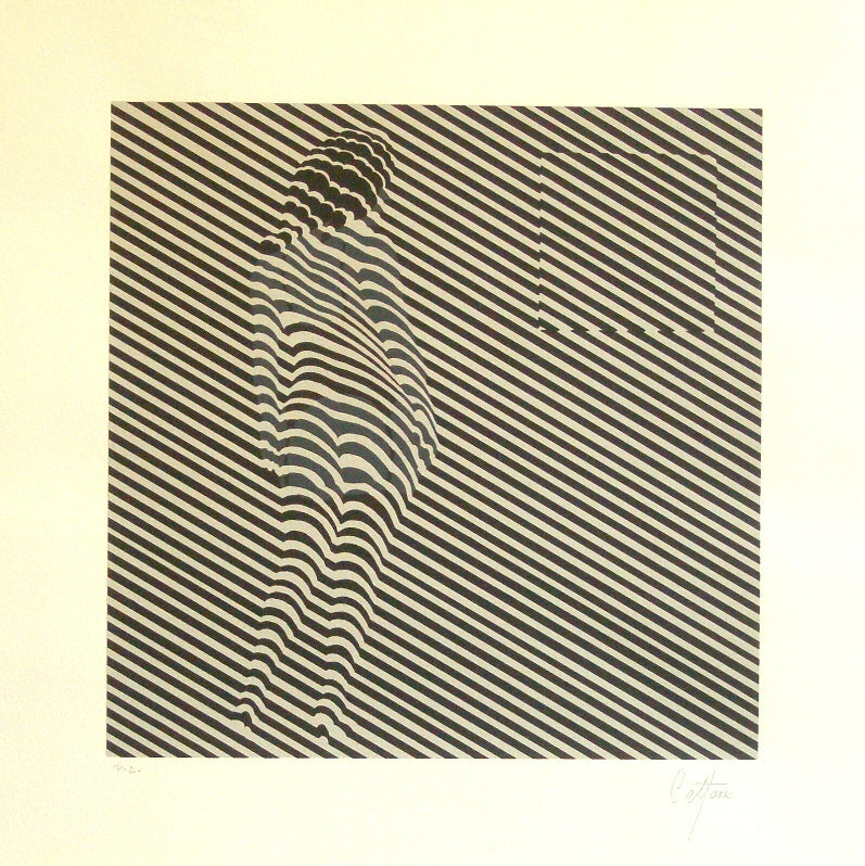 "Enrique CATTANEO, ""Op Art"", Silkscreen (CAT307)"