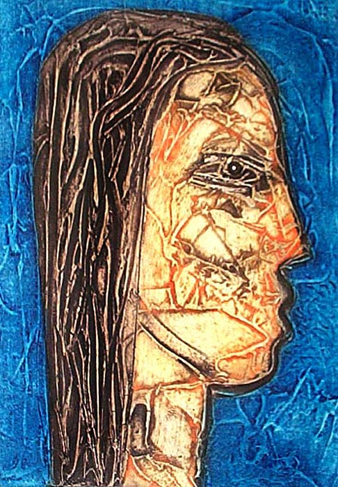 "CHOCO (Eduardo Roca), ""Poems by Víctor Casaus II"", Collagraph"