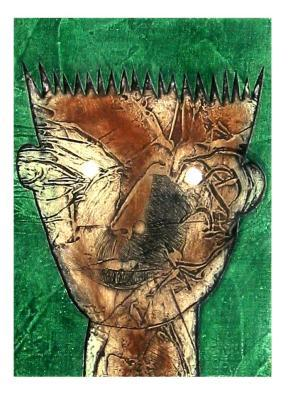"CHOCO (Eduardo Roca), ""Poems V. Casaus III"", Collagraph"