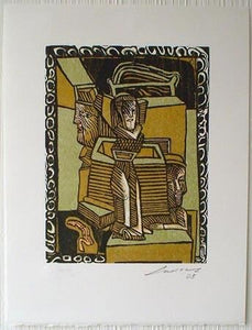 "José Luis CUEVAS 109 ""Ghost Suite of the Historic Center I"", Woodcut"